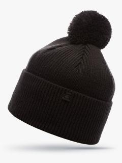 Купить оптом вязанную шапку зимнюю черного цвета в интернет магазине MTFORCE 5908Ch