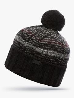 Купить оптом вязанную шапку зимнюю черного цвета в интернет магазине MTFORCE 5923Ch