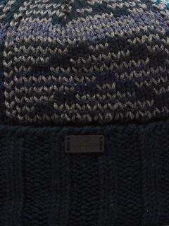 Купить оптом вязанную шапку зимнюю темно-синего цвета в интернет магазине MTFORCE 5923TS