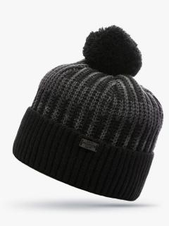 Купить оптом вязанную шапку зимнюю черного цвета в интернет магазине MTFORCE 5920Ch