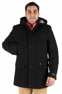 Купить оптом полупальто мужское темно-серого цвета 23TC в интернет магазине MTFORCE.RU