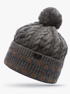 Купить оптом вязанную шапку зимнюю серого цвета в интернет магазине MTFORCE 5911Sr