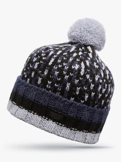 Купить оптом вязанную шапку зимнюю светло-серого цвета в интернет магазине MTFORCE 5912SS