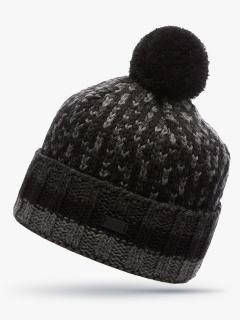 Купить оптом вязанную шапку зимнюю темно-серого цвета в интернет магазине MTFORCE 5912TC
