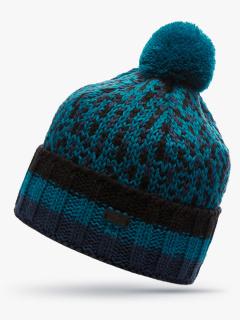Купить оптом вязанную шапку зимнюю темно-синего цвета в интернет магазине MTFORCE 5912TS