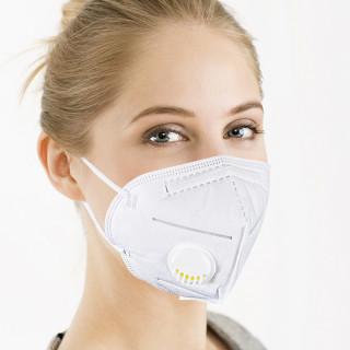 Купить оптом маска защитная многоразовая  с клапаном 95-kn за 10 белого цвета 95-10KNBl в интернет магазине MTFORCE.RU