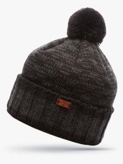 Купить оптом вязанную шапку зимнюю коричневого цвета в интернет магазине MTFORCE 5913K