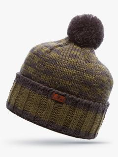 Купить оптом вязанную шапку зимнюю цвета хаки в интернет магазине MTFORCE 5913Kh