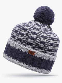 Купить оптом вязанную шапку зимнюю светло-серого цвета в интернет магазине MTFORCE 5913SS