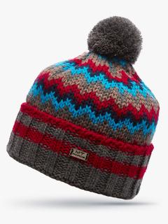 Купить оптом вязанную шапку зимнюю голубого цвета в интернет магазине MTFORCE 5914Gl