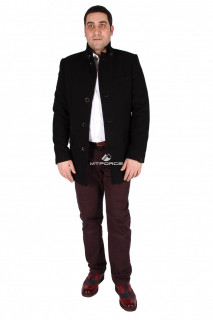 Купить оптом полупальто мужское черного цвета M23Ch в интернет магазине MTFORCE.RU