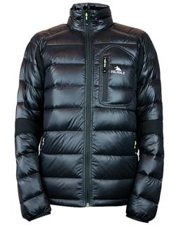 Купить оптом мужскую зимний пуховик еврозима черного цвета в интернет магазине MTFORCE 92102Ch