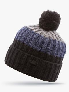 Купить оптом вязанную шапку зимнюю черного цвета в интернет магазине MTFORCE 5917Ch
