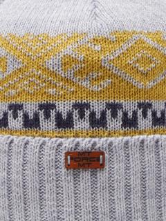 Купить оптом вязанную шапку зимнюю светло-серого цвета в интернет магазине MTFORCE 5918SS