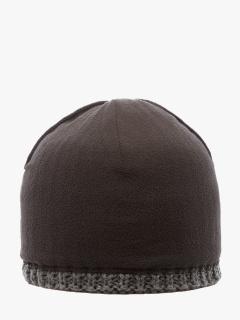 Купить оптом вязанную шапку зимнюю серого цвета в интернет магазине MTFORCE 5919Sr