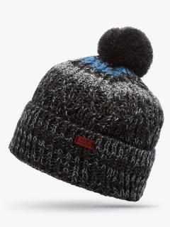 Купить оптом вязанную шапку зимнюю темно-серого цвета в интернет магазине MTFORCE 5905TC