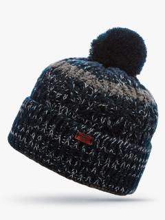 Купить оптом вязанную шапку зимнюю темно-синего цвета в интернет магазине MTFORCE 5905TS