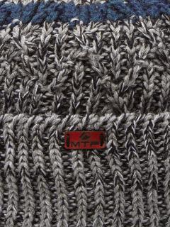 Купить оптом вязанную шапку зимнюю серого цвета в интернет магазине MTFORCE 5905Sr