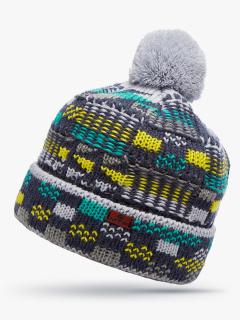 Купить оптом вязанную шапку зимнюю зеленого цвета в интернет магазине MTFORCE 5924Z