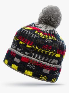 Купить оптом вязанную шапку зимнюю красного цвета в интернет магазине MTFORCE 5924Kr