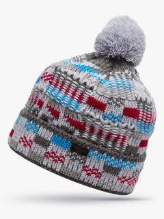 Купить оптом вязанную шапку зимнюю голубого цвета в интернет магазине MTFORCE 5924Gl