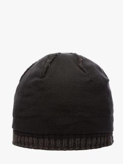 Купить оптом вязанную шапку зимнюю черного цвета в интернет магазине MTFORCE 5909Ch