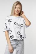 Оптом Топ футболка женская белого цвета 00001Bl в Екатеринбурге, фото 10