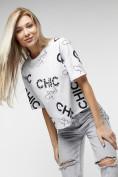 Оптом Топ футболка женская белого цвета 00001Bl в Екатеринбурге, фото 9