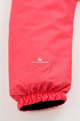 Оптом Куртка демисезонная подростковая для девочки розового цвета 016-2R, фото 6