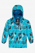 Оптом Куртка демисезонная подростковая для мальчика голубого цвета 017Gl в Екатеринбурге