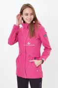 Оптом Костюм женский softshell розового цвета 018125-1R в Казани, фото 3