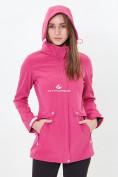 Оптом Костюм женский softshell розового цвета 018125-1R в Казани, фото 5