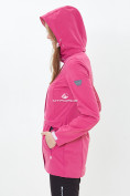 Оптом Костюм женский softshell розового цвета 018125-1R в Казани, фото 6
