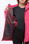 Оптом Костюм женский softshell малиновго цвета 01816-1M в  Красноярске, фото 6