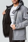 Оптом Костюм мужской softshell серого цвета 01904Sr в Казани, фото 5