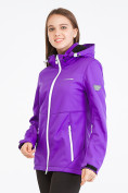 Оптом Костюм женский softshell фиолетового цвета 019077-1F, фото 2