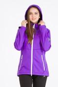 Оптом Костюм женский softshell фиолетового цвета 019077-1F, фото 5
