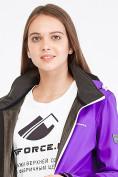 Оптом Костюм женский softshell фиолетового цвета 019077-1F, фото 6