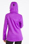 Оптом Костюм женский softshell фиолетового цвета 019077F в  Красноярске, фото 4