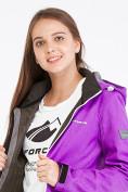 Оптом Костюм женский softshell фиолетового цвета 019077F в  Красноярске, фото 6