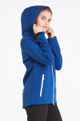 Оптом Костюм женский softshell синего цвета 019077S в  Красноярске, фото 5