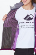 Оптом Костюм женский softshell фиолетового цвета 01907-1F в Казани, фото 8