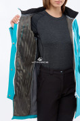 Оптом Костюм женский softshell бирюзового цвета 01911-1Br в Казани, фото 6