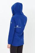 Оптом Костюм анорак женский softshell темно-синего цвета 01914TS, фото 2