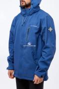 Оптом Костюм мужской большого размера softshell темно-синего цвета 01921TS в Казани, фото 4