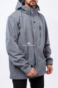 Оптом Костюм мужской большого размера softshell серого цвета 01921Sr в Казани, фото 2
