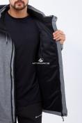 Оптом Костюм мужской большого размера softshell серого цвета 01921Sr в Казани, фото 5
