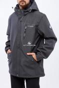 Оптом Костюм мужской большого размера softshell темно-серого цвета 01921TC в Казани, фото 2