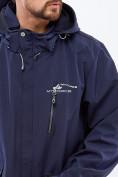 Оптом Костюм мужской большого размера softshell темно-синего цвета 01921TS, фото 4