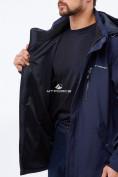 Оптом Костюм мужской большого размера softshell темно-синего цвета 01921TS, фото 5